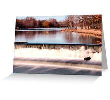 Dam on Fox River in Waukesha, WI  Greeting Card