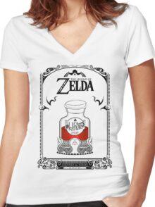 Zelda legend Red potion Women's Fitted V-Neck T-Shirt