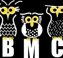 BMC owls in Black by ArtWithDogBMC
