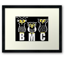 BMC owls in Black Framed Print