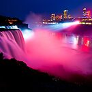 Niagara Falls at Night by Sam Scholes