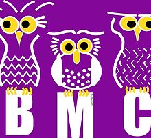BMC Owls - Purple by ArtWithDogBMC
