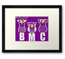 BMC Owls - Purple Framed Print