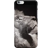 "Black and white lion ""Edgar"" iPhone Case/Skin"