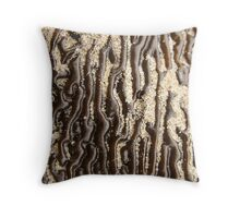 Wrinkly seaweed up close - 2013 Throw Pillow