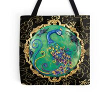 New Years Inspiration Black - Peacock Art Tote Bag