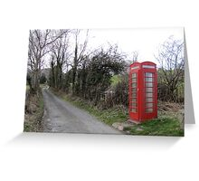 Lonely Red Phone Booth Greeting Card
