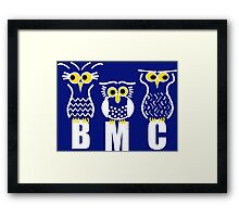 BMC Owls - Dark Blue Framed Print