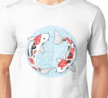 Fish carp koi blue Unisex T-Shirt