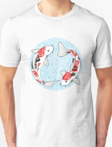Fish carp koi blue T-Shirt