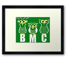 BMC Owls - Green Framed Print