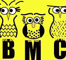 BMC Owls - Yellow by ArtWithDogBMC