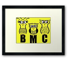BMC Owls - Yellow Framed Print