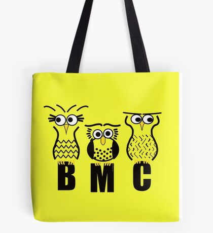 BMC Owls - Yellow Tote Bag