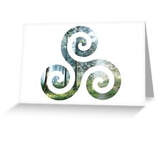 Forest Triskele Greeting Card