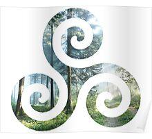 Forest Triskele Poster