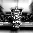 Ayrton Senna&#x27;s - Lotus F1 (Black &amp; White) by Tom Clancy