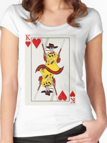 King of Hearts Women's Fitted Scoop T-Shirt