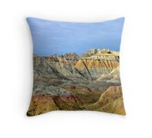 Conata Valley in the Badlands National park Throw Pillow
