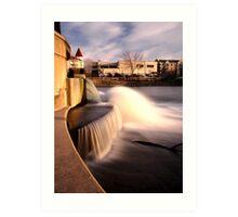 Dam on the Fox River in Waukesha, Wisconsin Art Print