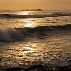 Sunrise over Inner Farne by Chas Bedford