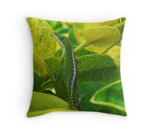 ~ Green Anole ~ Throw Pillow