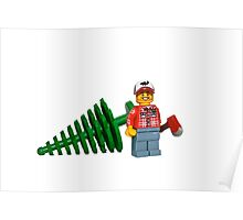 LEGO Lumberjack with a Tree Poster