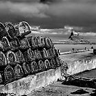 Crab Pots, Lindisfarne by Chas Bedford