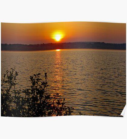 Sunset on Georgian Bay Poster