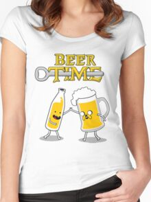 Time For Beer Women's Fitted Scoop T-Shirt