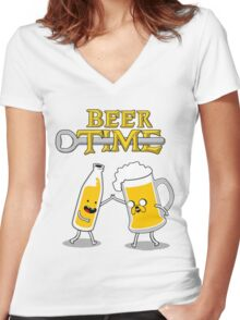 Time For Beer Women's Fitted V-Neck T-Shirt