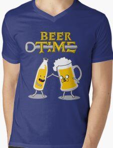 Time For Beer Mens V-Neck T-Shirt