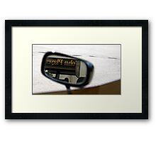 'Looking Back' - Aryton Senna Framed Print