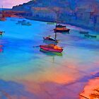 Mousehole Harbor, Cornwall - UK by John Rainford