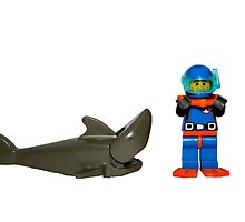 LEGO Diver & Shark by jenni460