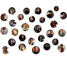 Teen Wolf Cast Bubbles Poster Photographic Print