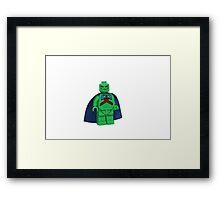 LEGO Martian Manhunter Framed Print