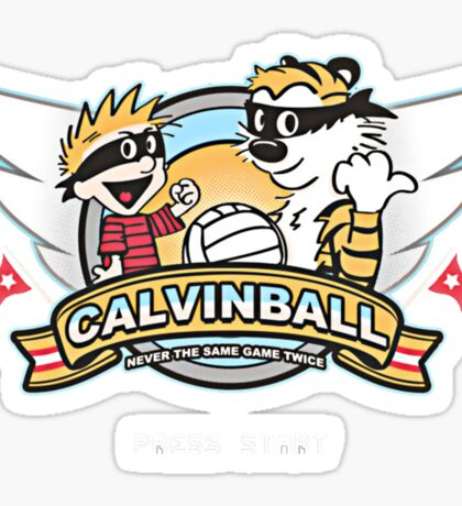 Game of Calvin and Hobbes Sticker