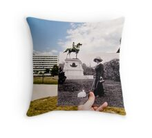 Looking Into the Past: Thomas Circle, Washington, DC Throw Pillow