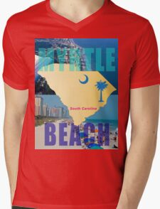 MYRTLE BEACH T-SHIRT Mens V-Neck T-Shirt
