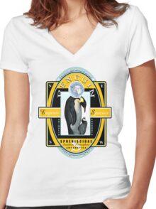 king penguin Women's Fitted V-Neck T-Shirt