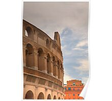 Colosseum in the historic Centre of Rome, Italy Poster
