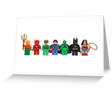 LEGO Justice League of America Greeting Card