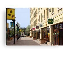Downtown Waukesha Shops Canvas Print