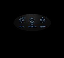 Man woman geek by funnyshirts