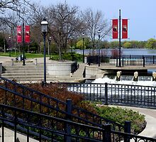 Fox River Walk in Waukesha, WI by James Formo