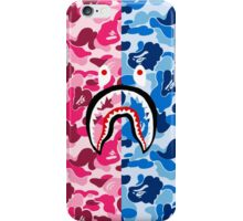 PINK AND BLUE CAMO / SHARK iPhone Case/Skin