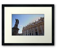 Saint Peters Basilica, Vatican City, Rome, Italy Framed Print