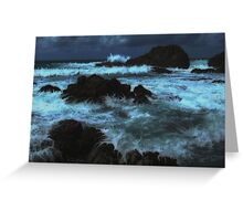 """Angry Ocean"" Greeting Card"