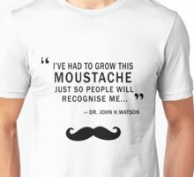 WATSON MOUSTACHE Unisex T-Shirt